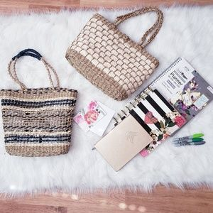 NEW Straw /Woven tote Lot
